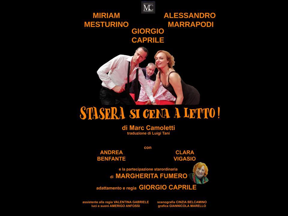26 GENNAIO 2019 con 'STASERA SI CENA A LETTO' si inaugura  la stagione 2019 'SANTENA CHE SPETTACOLO!'